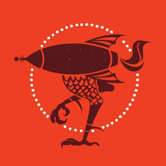 atomic chicken Art Print