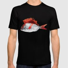 FISHY STARDUST Mens Fitted Tee SMALL Black