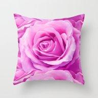 Throw Pillow featuring Pink Rose  by LebensART