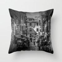 Toledo Street Scene Throw Pillow