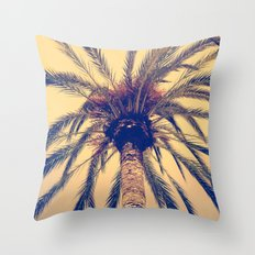 Tenerife Palm Tree Throw Pillow