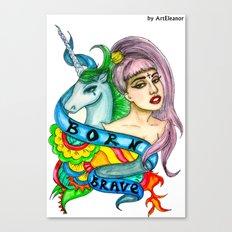 BORN BRAVE Canvas Print
