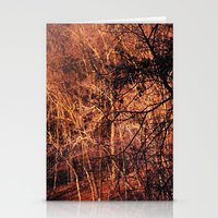 Gold Glowing Forest Stationery Cards