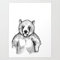 Cold Bear Art Print