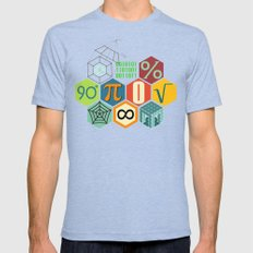 Math in color Mens Fitted Tee Tri-Blue SMALL