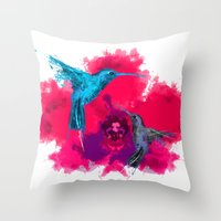 Pink hum orchid explosion  Throw Pillow