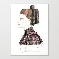 Chanel Haute Couture Fal… Canvas Print