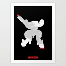 Metal Gear Solid - If you understand this .. it hurts (2) Art Print