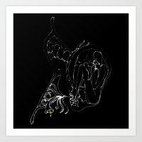 In Silence v2 Art Print