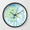 Smile It's contagious :D Wall Clock