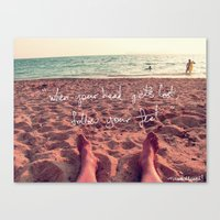 Follow Your Feet Canvas Print