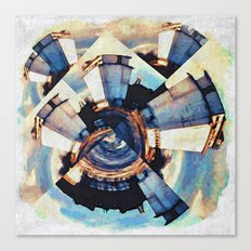 Tiny Winy Planet Collage Canvas Print