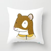 Stoat Portrait Throw Pillow