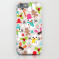 Christmas Retro Kids Ill… iPhone 6 Slim Case
