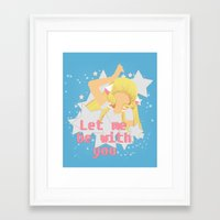 Framed Art Print featuring Let Me Be With You by Mickey Spectrum