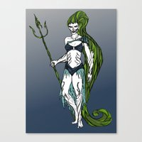 Water Warrior Canvas Print