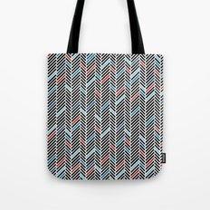 Herringbone Black and Blue #2 Tote Bag