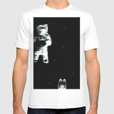 Spaced Dreams (Moon Traveler) Mens Fitted Tee SMALL White