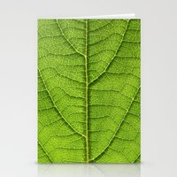 green leaf structure XII Stationery Cards