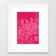 London! Hot Pink Framed Art Print