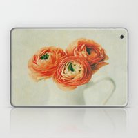 Orange Ranunculus Textured  Laptop & iPad Skin