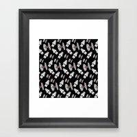 Tie Fighters-Black Framed Art Print