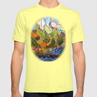 Happiness Mens Fitted Tee Lemon SMALL