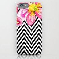 Chevron Floral Watercolo… iPhone 6 Slim Case