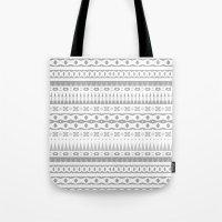 Gray Aztec Tote Bag