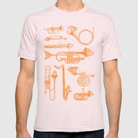 Fish Trumpet Mens Fitted Tee Light Pink SMALL