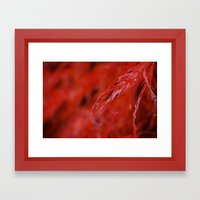 Red Framed Art Print