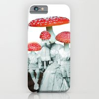 iPhone & iPod Case featuring amanita muscaria with children by swinx