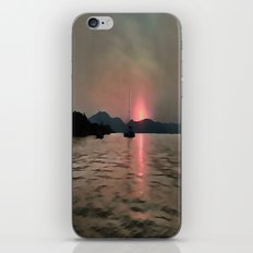 Sunset Shores In Pink And Grey iPhone & iPod Skin