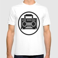 BoomBox Mens Fitted Tee White SMALL