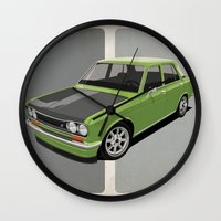 Datsun 510 - Green Wall Clock