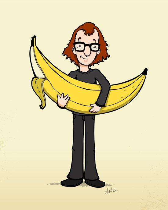 Woody's Banana Art Print