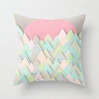 Forest Pastel Throw Pillow