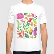 VEGGIES Mens Fitted Tee White SMALL
