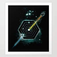 Space And Time Fragmenta… Art Print