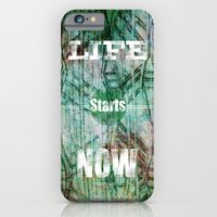 iPhone & iPod Case featuring Life Starts Now by F. C. Brooks