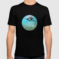 Free Turtle  Mens Fitted Tee Black SMALL