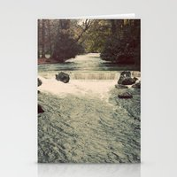 Rocky River Waterfall En… Stationery Cards