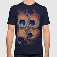 Peacock Mens Fitted Tee Navy SMALL