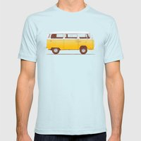 Yellow Van Mens Fitted Tee Light Blue SMALL