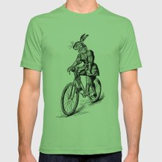 The Bicycle Bunny Mens Fitted Tee Grass SMALL