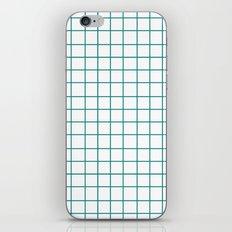 Grid (Teal/White) iPhone & iPod Skin