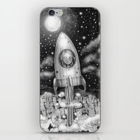Running Away From Home In A Rocket Ship iPhone & iPod Skin