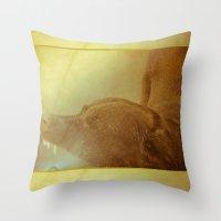 Summertime Dog Throw Pillow