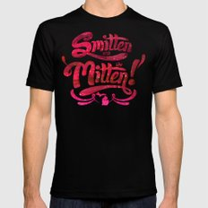 Smitten with the Mitten Black SMALL Mens Fitted Tee