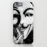 iPhone Cases featuring GYE FAWKES MASK by shannon's art space
